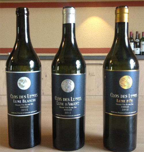 Bordeaux 2012 Sauternes Clos des lunes