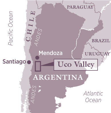 Decanter Travel Guide Uco Valley Argentina Decanter - Argentina map small