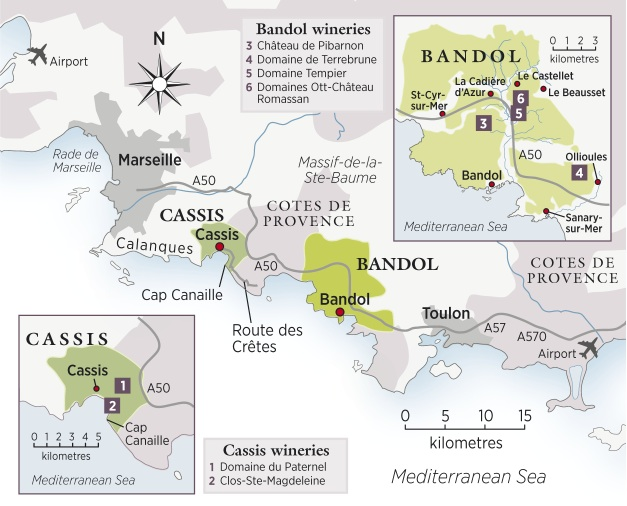 Cassis and Bandol