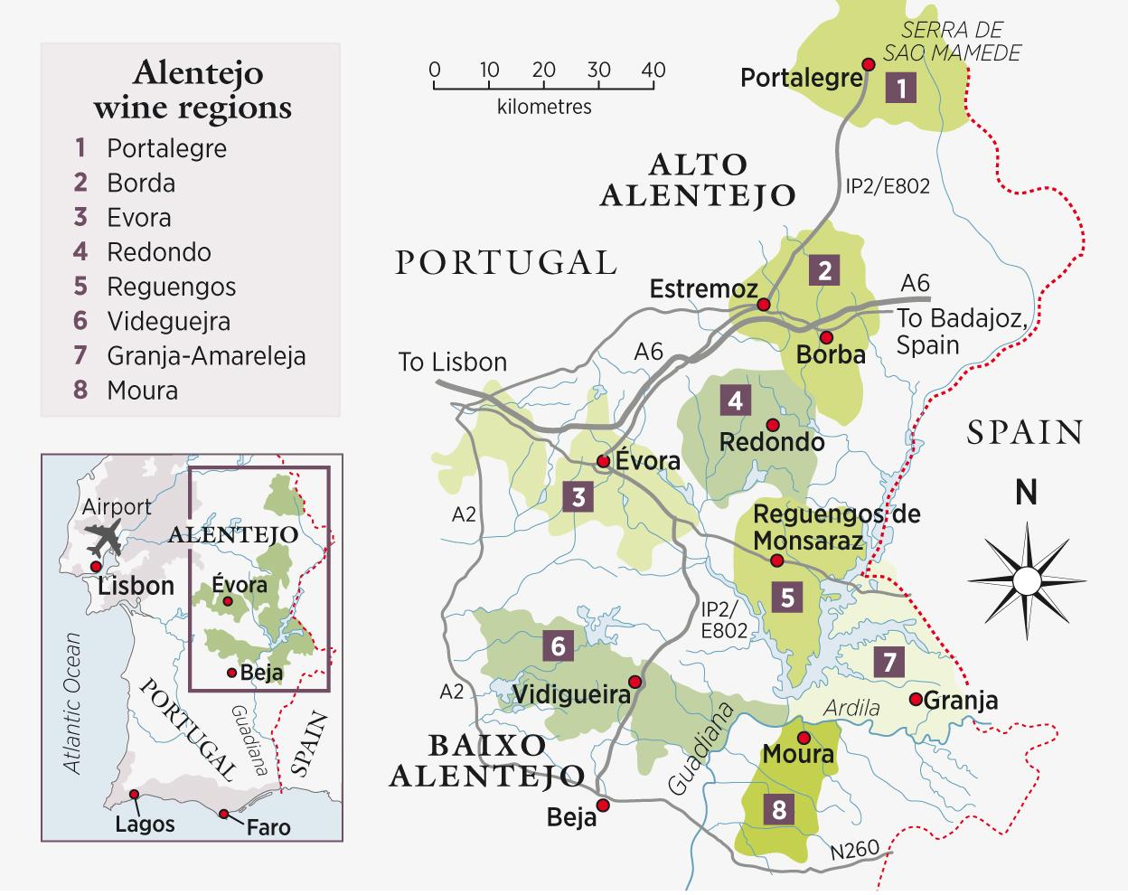 Decanter Travel Guide Alentejo Portugal Decanter - Portugal map regions