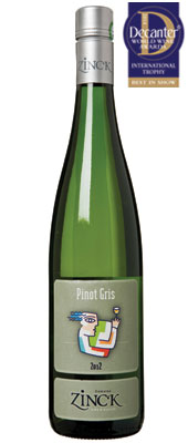 DWWA 14 International Trophy, Paul Zinck Pinot Gris Portrait Alsace 2012
