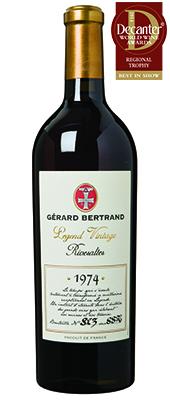 Gérard Bertrand Legend Vintage Languedoc-Roussillon1974