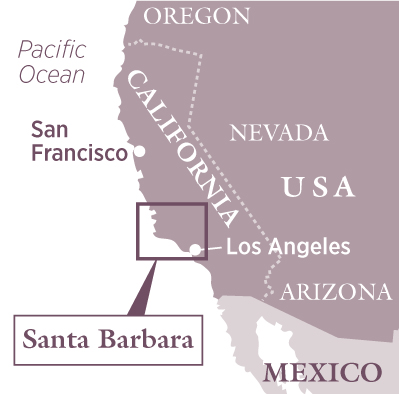 Santa Barbara travel map