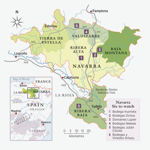 Map Of Spain Navarra.Regional Profile Navarra Spain Decanter