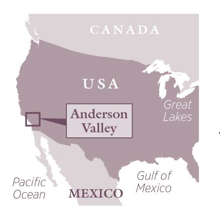 Anderson Valley travel map