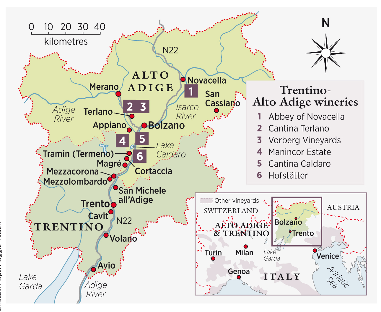 Wine Region Italy Map.Decanter Travel Guide Trentino Alto Adige Italy Decanter