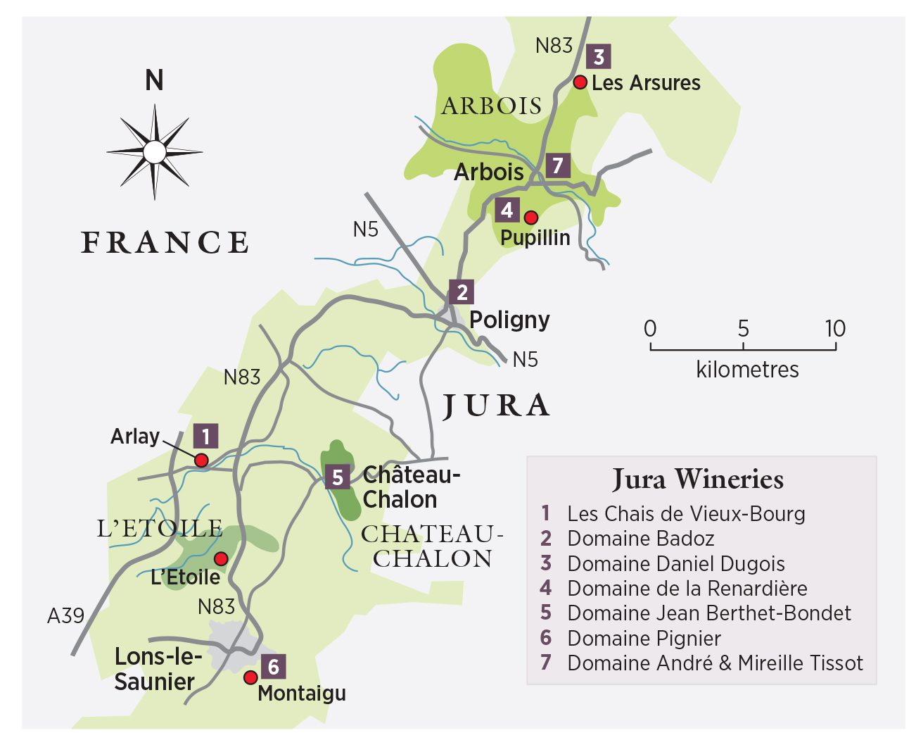 Map Of France Jura.Decanter Travel Guide Jura France Decanter