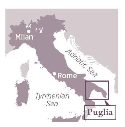 puglia travel guide map