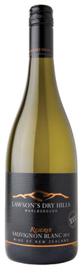 New Zealand Sauvignon Blanc, Lawson's Dry Hills Reserve Wairau Valley Marlborough 2012