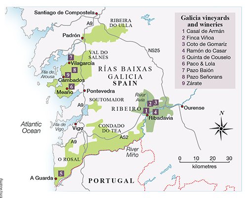 Map Of Spain Vineyards.Decanter Travel Guide Galicia Spain Decanter