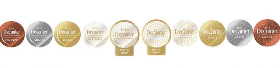 Decanter Medal Stickers