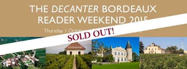 Bordeaux reader weekend