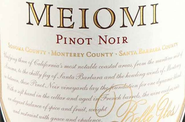 Meiomi, Pinot Noir, California