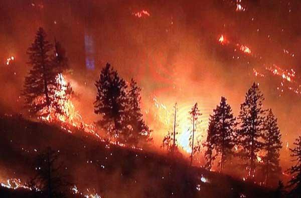 BC fire, Oliver, British Columbia