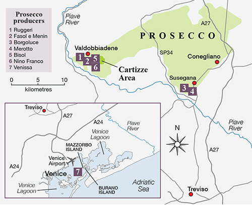 Prosecco map