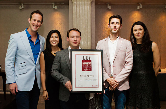 Bottle Apostle, Decanter Retailer Awards 2015