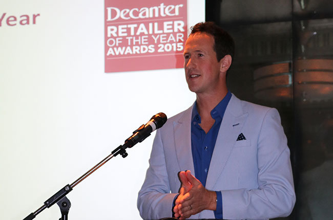 Peter Richards MW, Decanter Retailer Awards ceremony