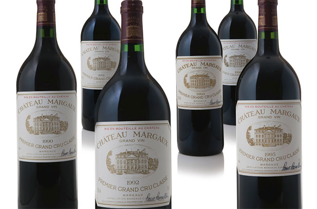 A Chateau Margaux auction, Sotheby's, New York.