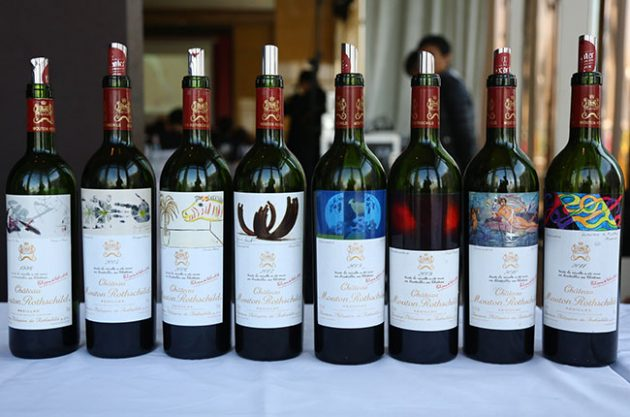 Mouton Rothschild Masterclass wines SFWE 2015