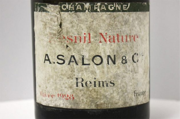 Salon Le Mesnil Nature, Champagne 1928, Rudy Kurniawan wines