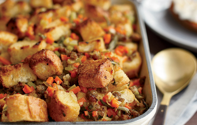 Sausage-and-Bread Stuffing - recipe - Decanter
