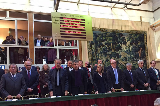 One minute silence, Hospices de Beaune 2015