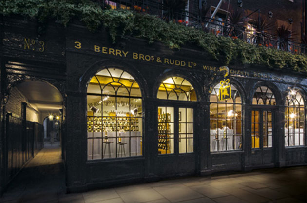 Berry Bros & Rudd's St James' Street shop and cellars