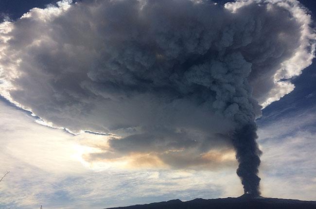 Mount Etna erupts 2015