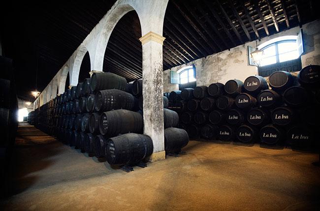 Sherry cellars at La Ina