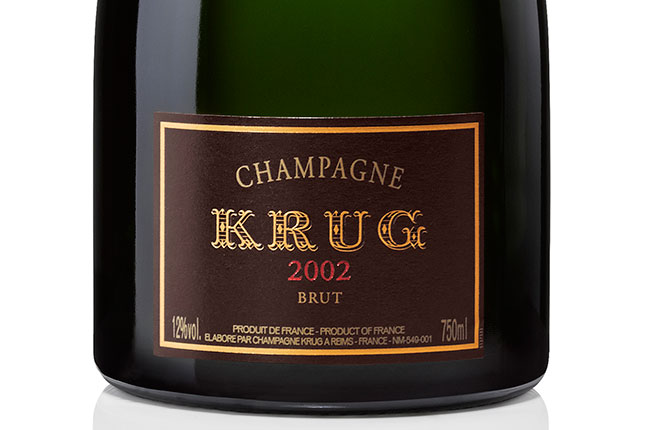Krug 2002 label