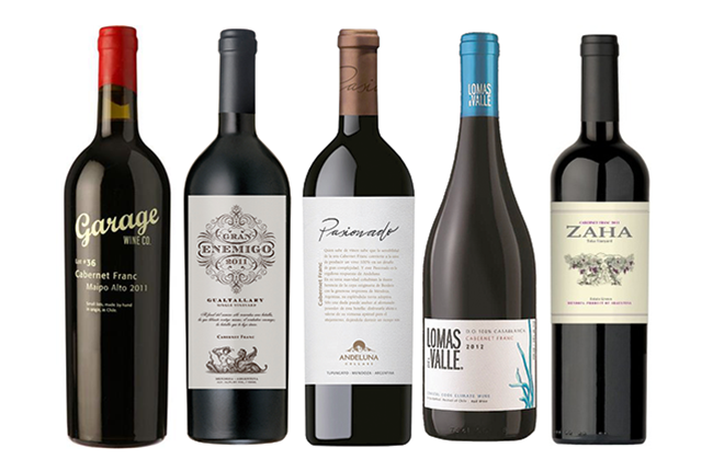 Cabernet Franc from Argentina and Chile