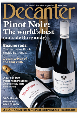Decanter April 2016 cover