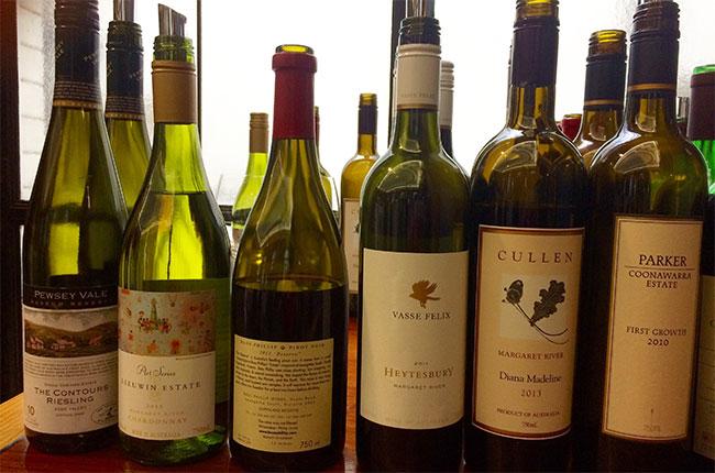 Langton's, Australian wine tasting