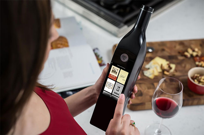 wifi wine bottle, kuvée