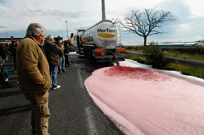 French grower protest