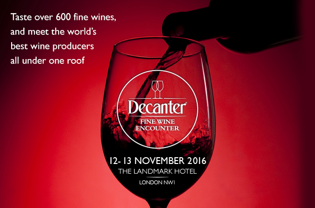 Decanter Fine Wine Encounter Nov 2016
