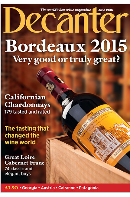 Decanter magazine June 2016