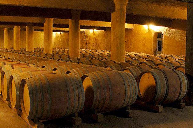 Mas de Daumas Gassac barrel room, Languedoc
