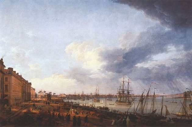 Bordeaux port in 1758