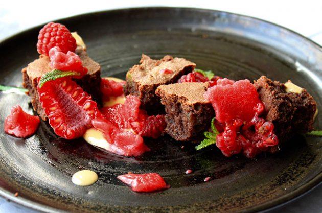 Brownie Raspberry sorbet