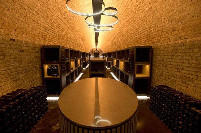 bollinger library cellar, champagne
