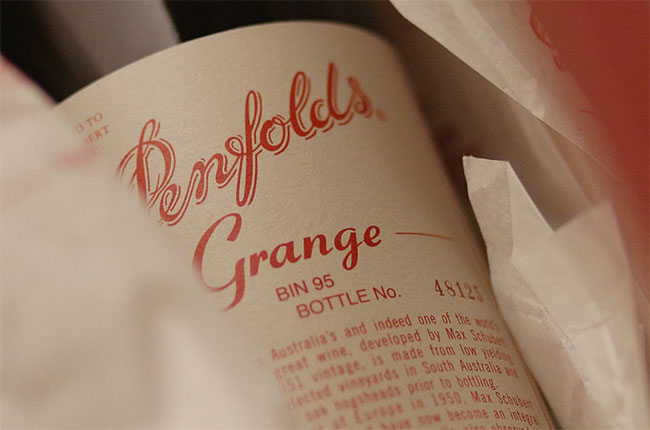 Penfolds grange, decanter