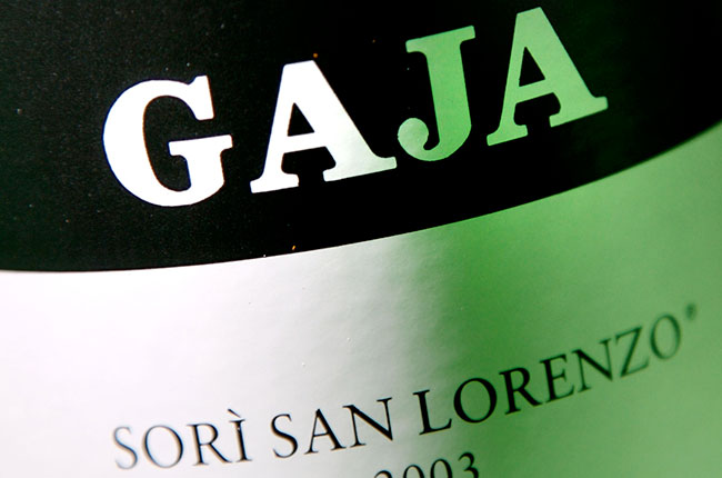 Gaja Barbaresco appellation, single vineyard, sori san lorenzo