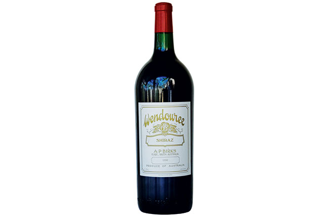 Wendouree Shiraz 1990 bottle
