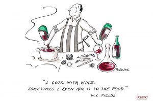 wine quote, cooking, decanter