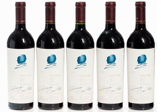 Top five Opus One wines