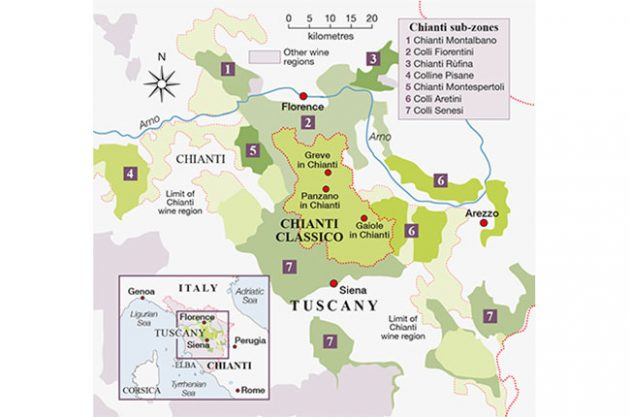 Chianti Region Italy Map.Great Value Chianti Under 20 Decanter