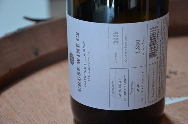 Cruse Wine Co., Sparkling St. Laurent Petillant Naturel 2015