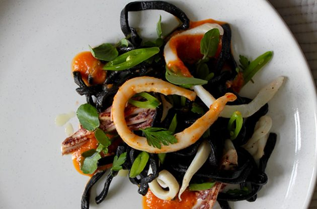 Michel Roux Jr, squid linguine.