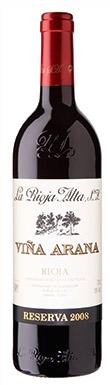 La Rioja Alta, Viña Arana, Rioja Reserva 2008